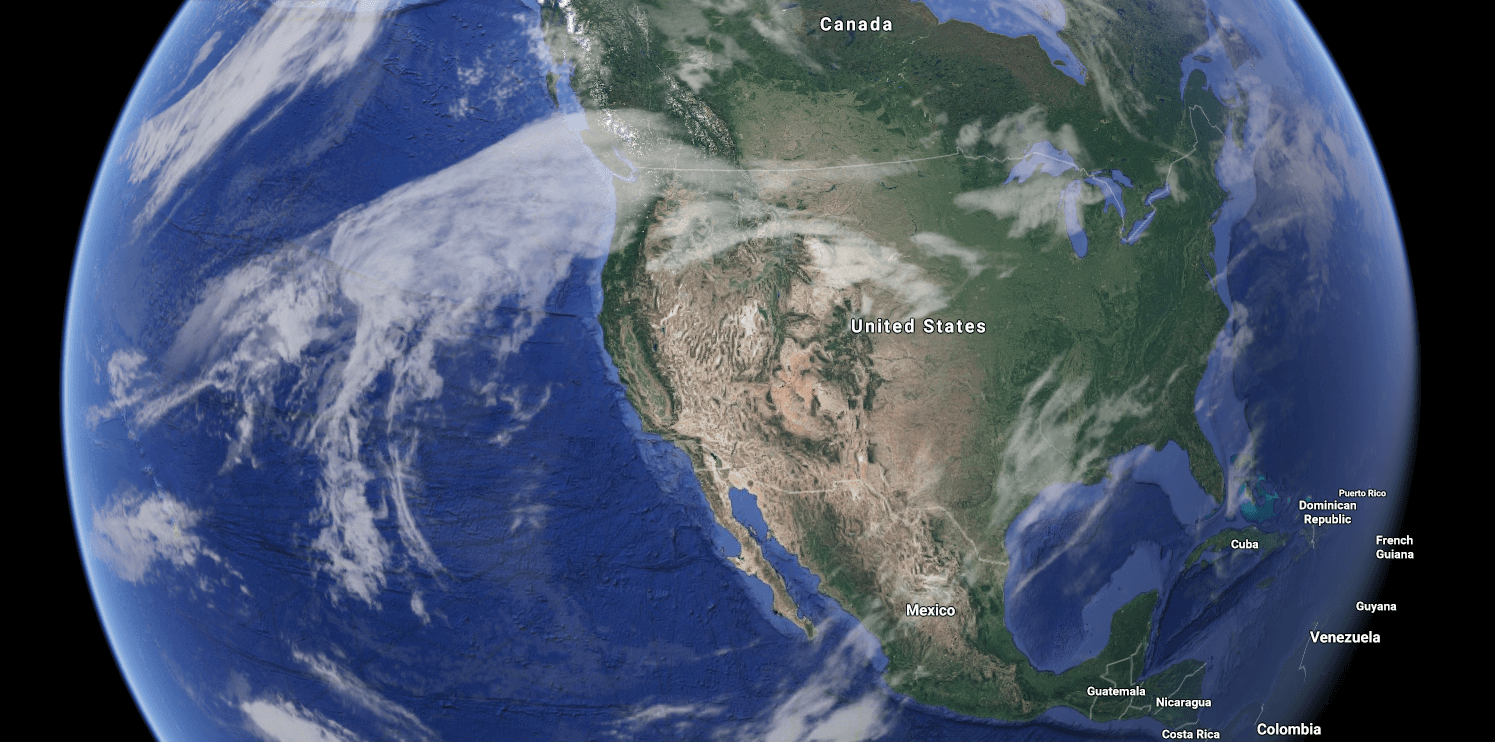 A high-pressure ridge sits over California and the intermountain West.